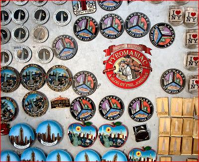 The souvenir rack on the 86th floor