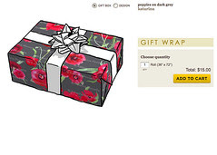 Spoonflower gift wrap paper