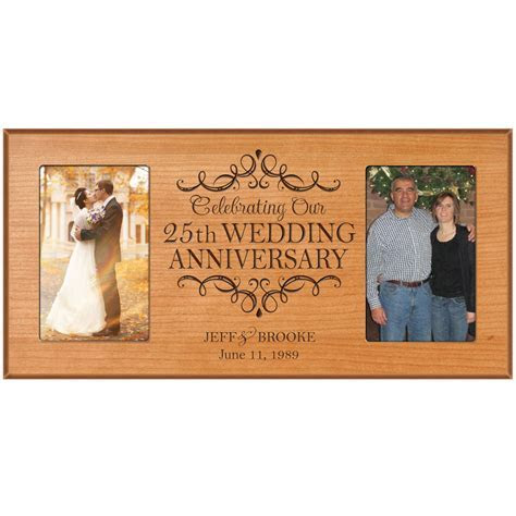 Personalized 25th 4x6 Anniversary Wedding Gift Picture