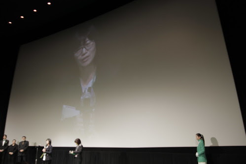 Shin Su-Won receives an award
