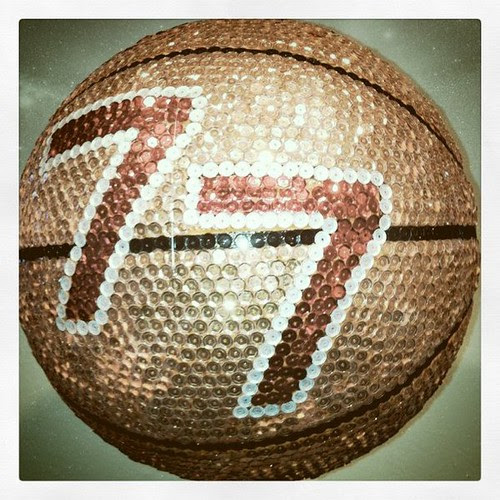 sequined basketball