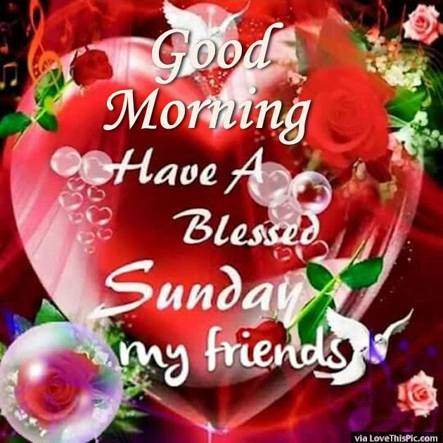 Good Morning Have A Blessed Sunday My Friends Pictures Photos And