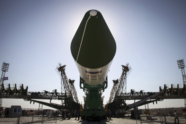 Le vaisseau cargo Progress, àdestination de la station... (PHOTO REUTERS)