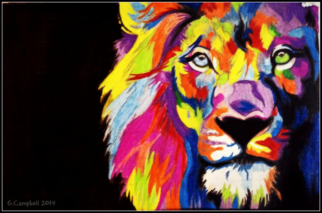 Colourful Lion Hd Wallpaper