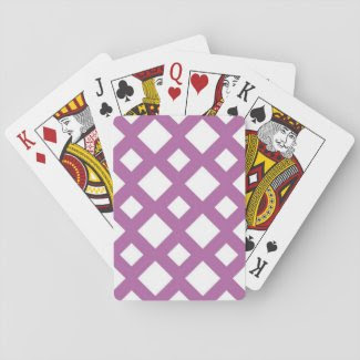 White Diamonds on Lavender Card Decks