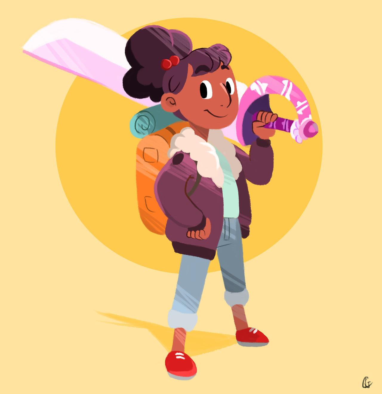BUN head connie, LOVE her redesign!