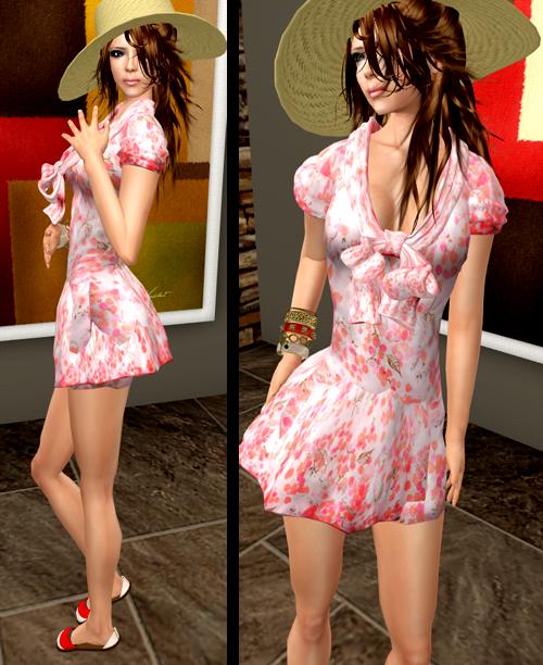 NEW! SHIKI-Print Dress SAKURA