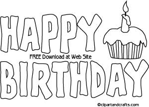 10 Best Images of Happy Birthday Banners Printable Outline ...