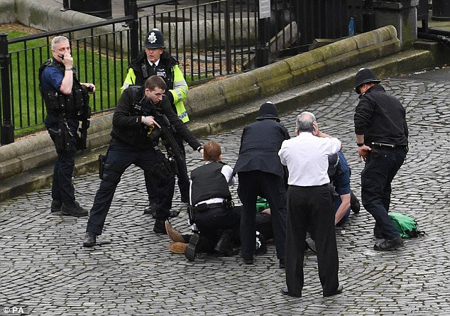 At least two people are dead and several more were injured after a 'terror attack' in the heart of Westminster