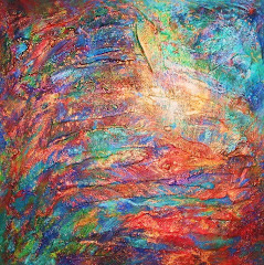 TEXTURED ABSTRACT PAINTING by LORRAINE G HUBER