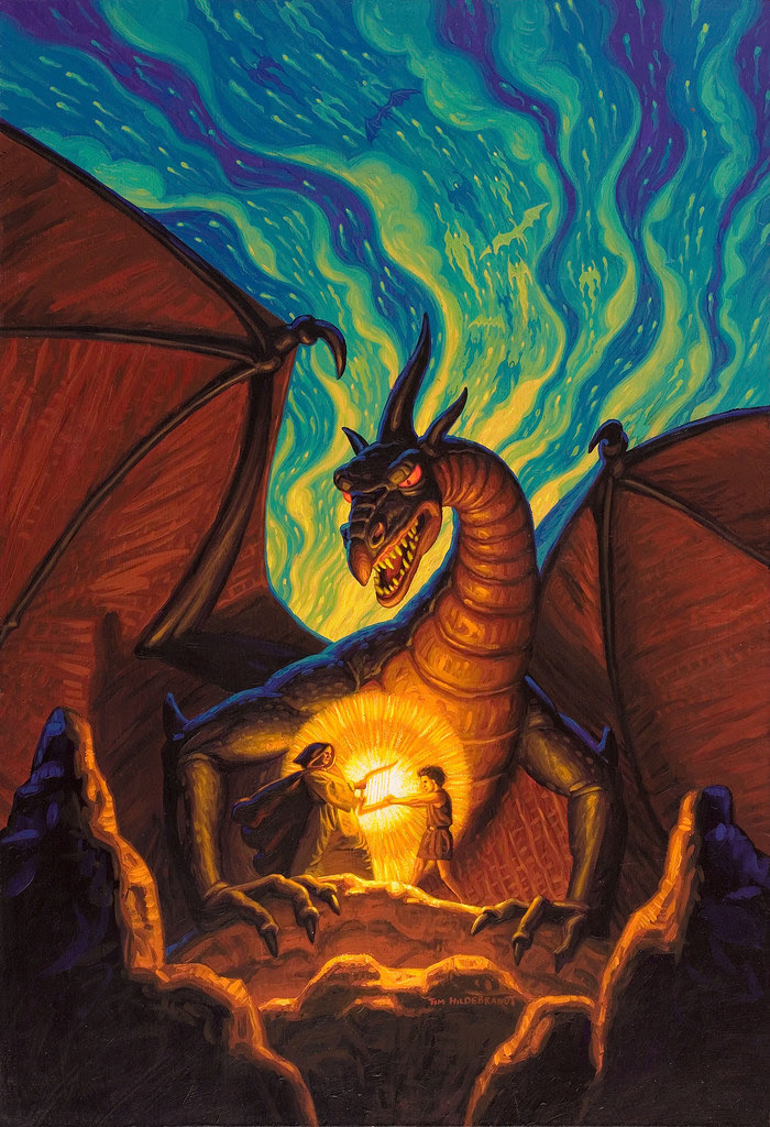 Tim Hildebrandt - The Dragonbards book cover, 1988