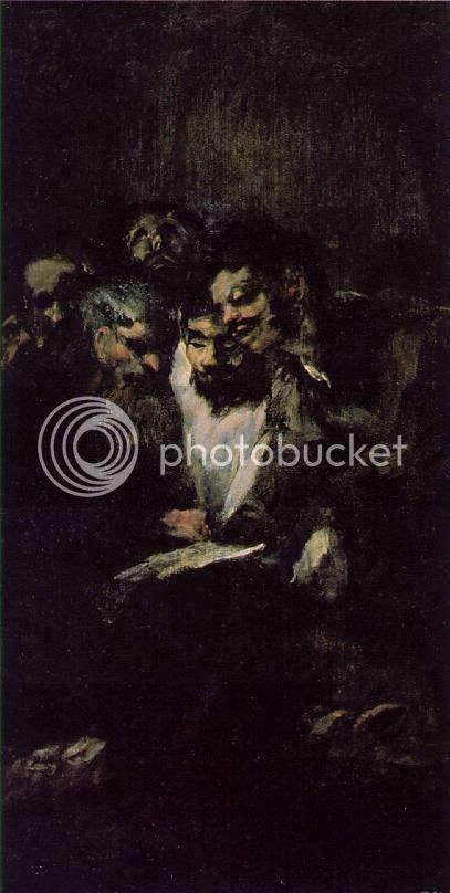 'Men Reading,' Goya