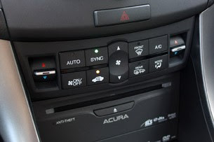2011 Acura TSX Sport Wagon climate controls