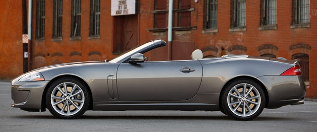 2011 Jaguar XKR Convertible side view