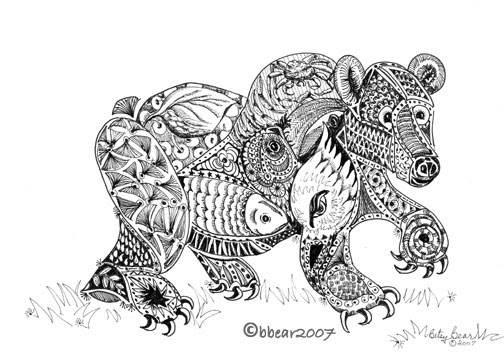 Betsy Bear gallery Ink Drawings