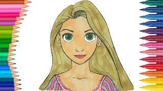 All Clip Of Prenses Rapunzel Boyama Bhclipcom