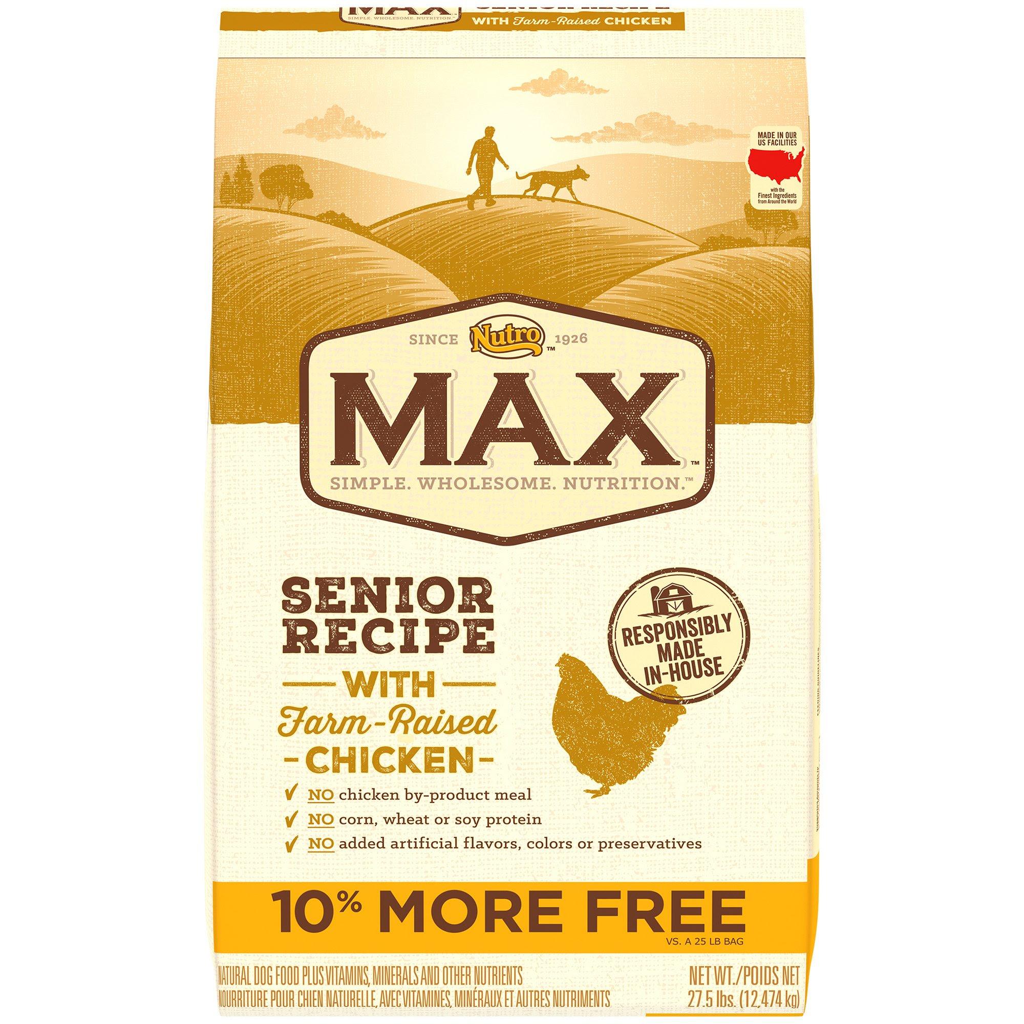 NUTRO MAX Senior Chicken Dog Food | Petco