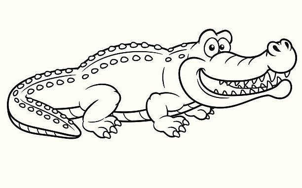Images Of Cartoon Crocodile Clipart Black And White