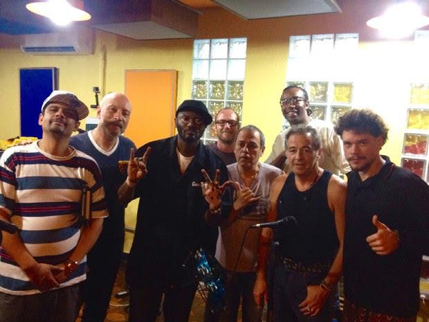 Rappin Hood e Ira! em ensaio para apresentação no Rock in Rio 2015 (Foto: Reprodução)