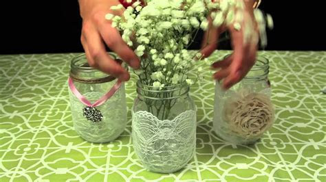 How to Decorate Mason Jars for a Wedding   YouTube