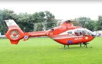 Elicopter SMURD intr-o misiune in R. Moldova