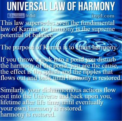 The Universal Law of Harmony