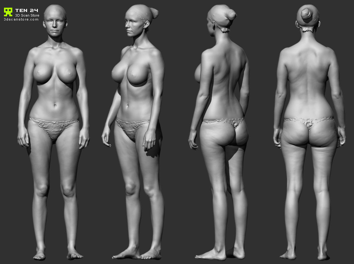 Female Figure Female Body Reference For 3d Modelling Muitos Modelos