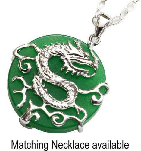 JADE DRAGON PENDANT IN STERLING SILVER