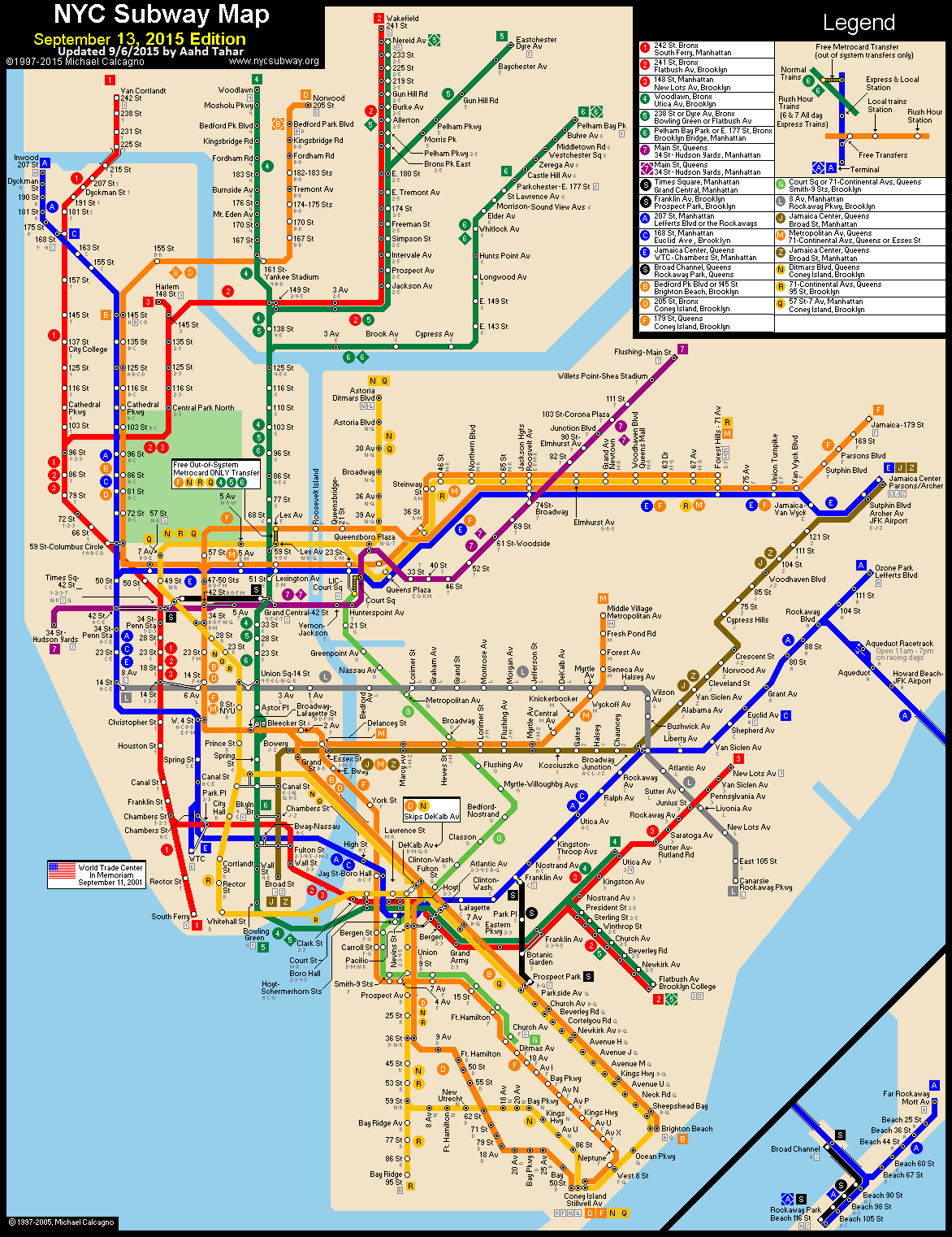 Map Of Nyc Subway System