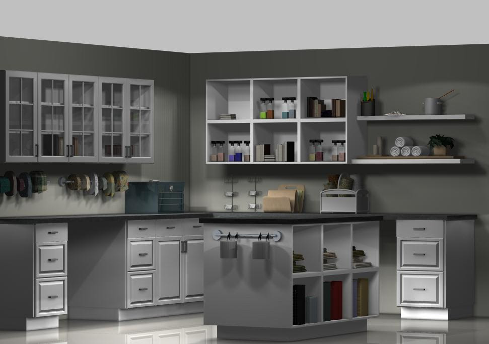 A Craft Room with Ikea Kitchen Cabinets - IKEA Kitchen Design Online