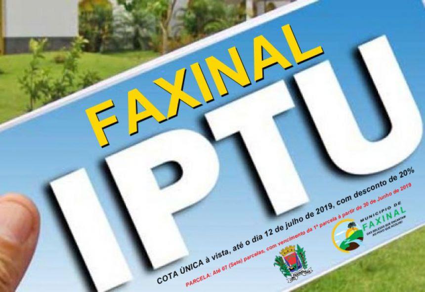 IPTU com 20% de desconto é prorrogado para 12 de julho de 2019