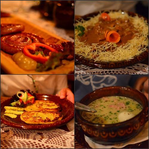 Collage di cibo polacco