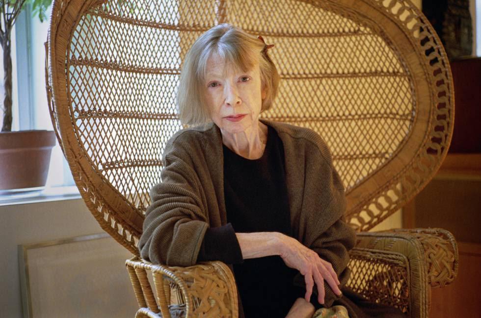 Joan Didion en su apartamento de Nueva York.