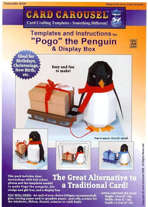Pogo The Penguin Gift Box Template From Card Carousel