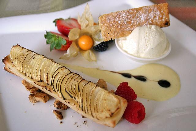 Mr and Mrs Granny Smith - apple tart with vanilla ice cream