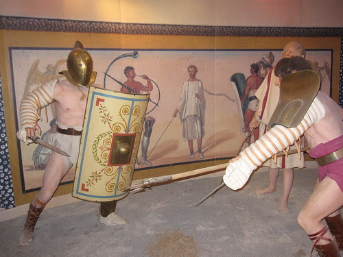 Gladiator exhibit in Carnuntum