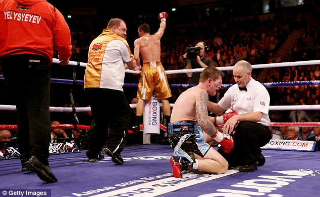 We still love you: Ricky Hatton gave his fans once last chance to see him action, but was defeated