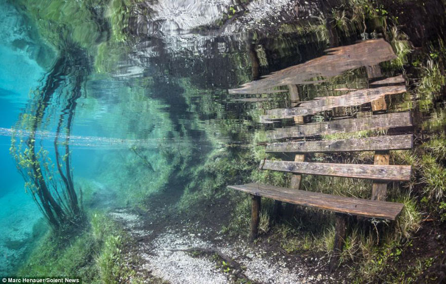 cool-Green-Lake-bench-underwater
