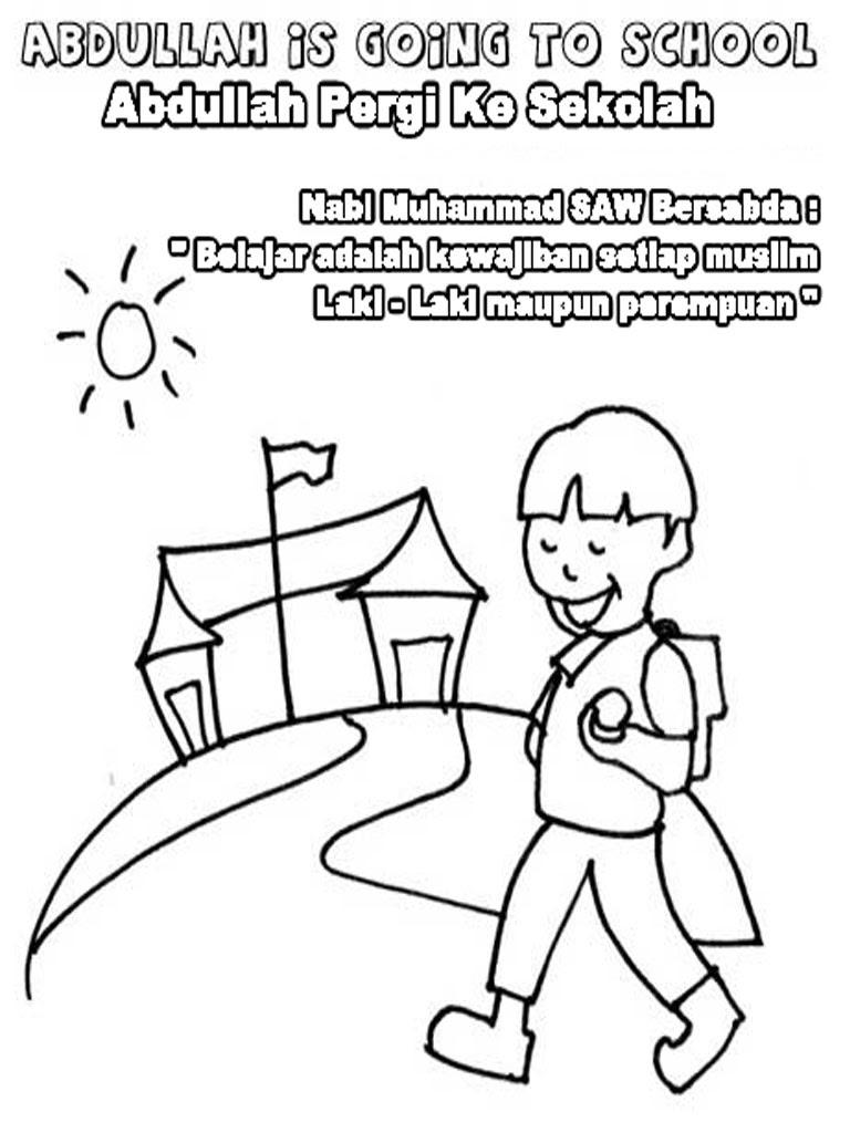 Gambar Kartun Anak Muslim Sekolah Kata Kata