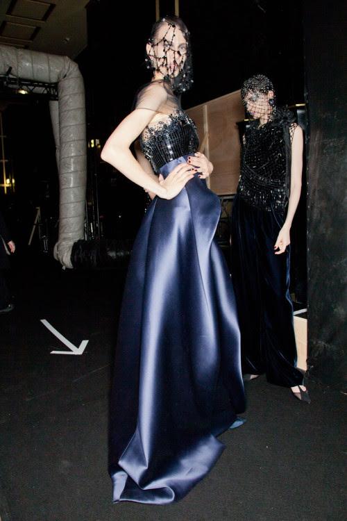 lelaid:  Aymeline Valade backstage at Armani Privé, Fall/Winter 2012