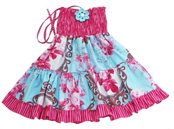 dress bigger/pink and turquoise
