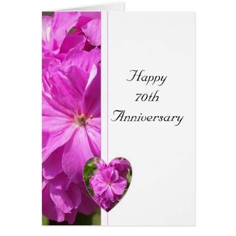Pink Geranium 70th Wedding Anniversary   Zazzle