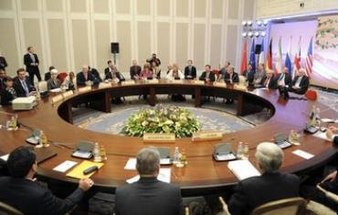 P5+1 participants prepare to start talks with Iranian negotiators in Almaty April 5, 2013.