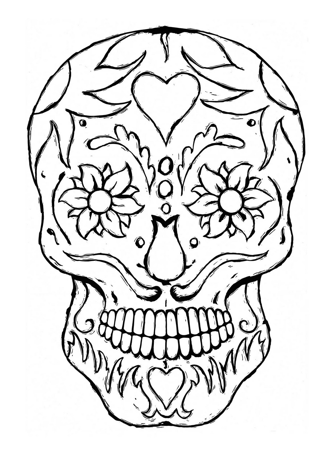 - Free Printable Skull Coloring Pages For Kids - Coloring Pages