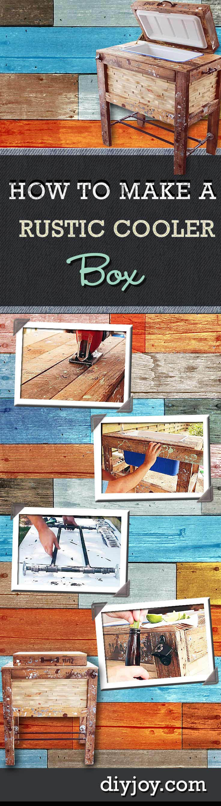 DIY Pallet Furniture Ideas - Rustic Cooler Box - Best Do It Yourself Projects Made With Wooden Pallets - Indoor and Outdoor, Bedroom, Living Room, Patio. Coffee Table, Couch, Dining Tables, Shelves, Racks and Benches http://diyjoy.com/diy-pallet-furniture-projects