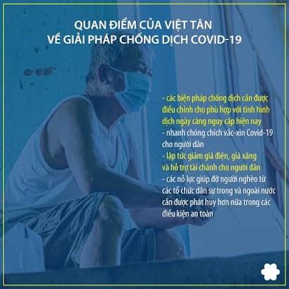 Việt tân đưa ra giải pháp chống dịch, dân mạng đả kích gì?