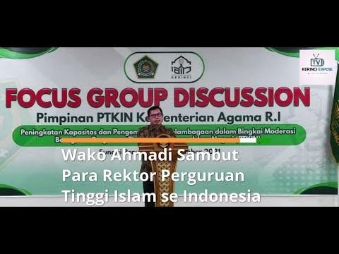 Wako Ahmadi Sambut Para Rektor Perguruan Tinggi Islam se Indonesia