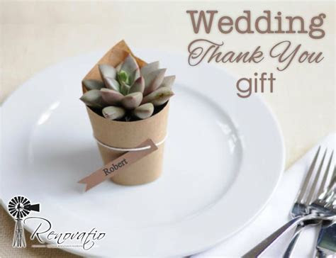 Inexpensive thank you gifts for wedding guests.   diy