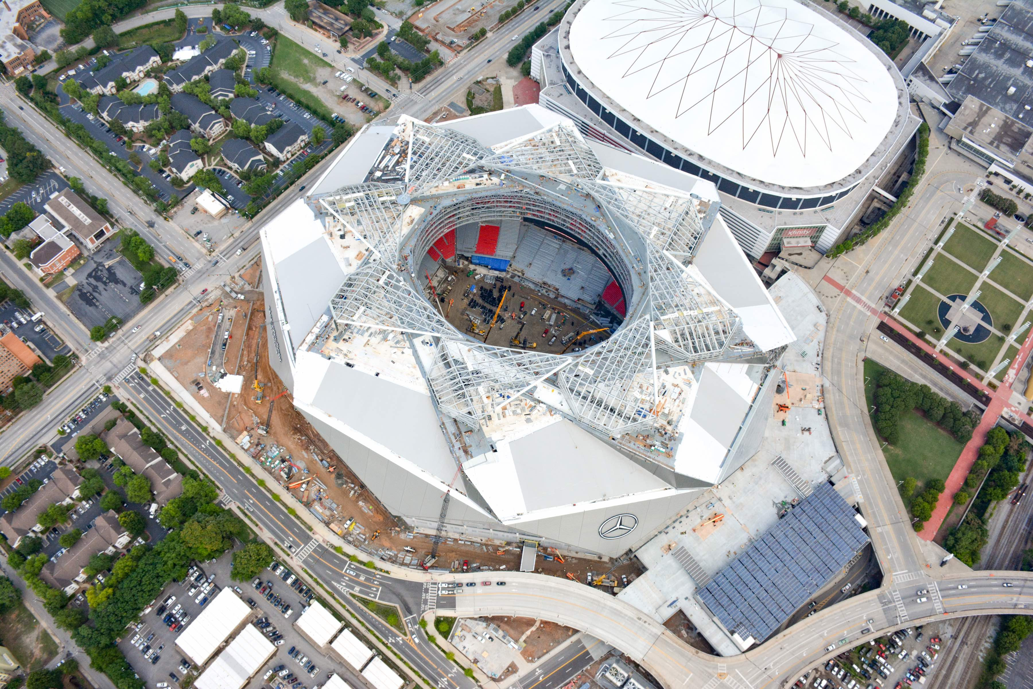 Georgia Dome Decommissioning Restarted; Implosion Planned ...