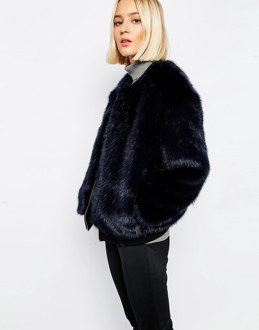 Image 1 of ASOS WHITE Faux Fur Bomber